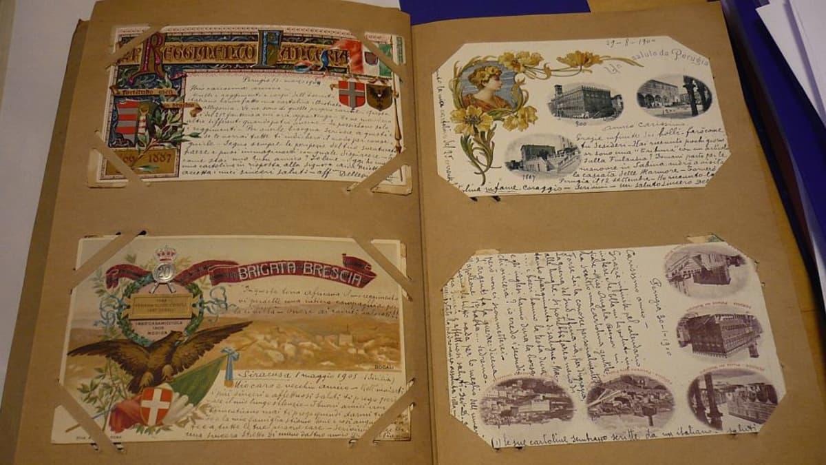 Aukeama Valfrid Hedmanin postikorttialbumista