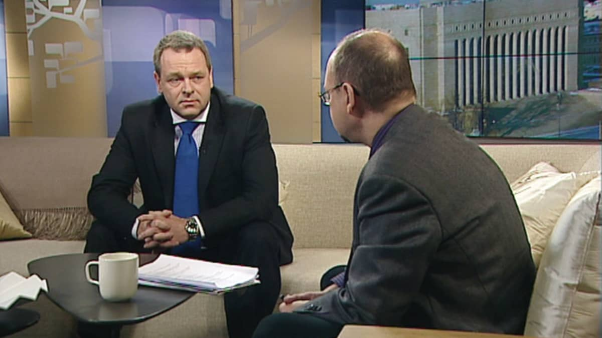 Jan Vapaavuori Ykkösaamun vieraana 19.1.2013.