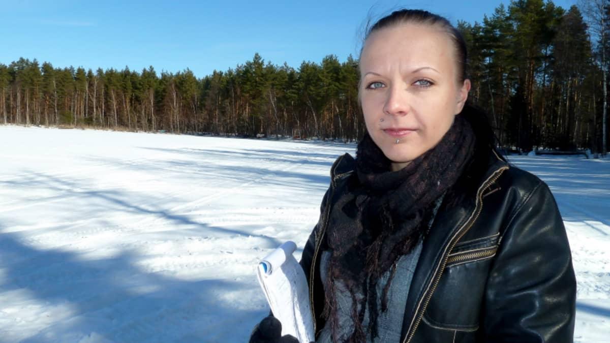 Reija Laurila Loppijärvellä