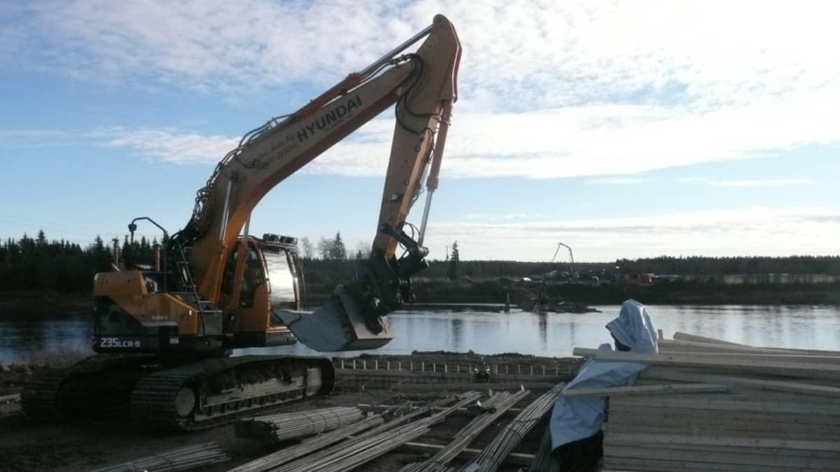 Kittilä Kaukosen silta Ounasjoki Kaukonen