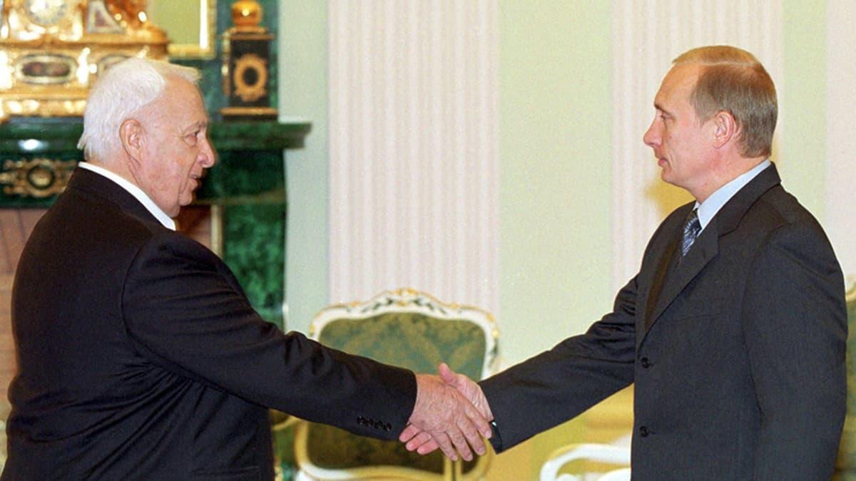 Ariel Sharon ja Venäjän presidentti Vladimir Putin.