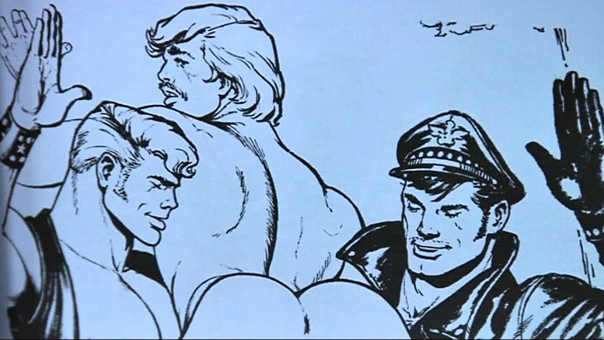 Tom of Finlandin sarjakuvaa.
