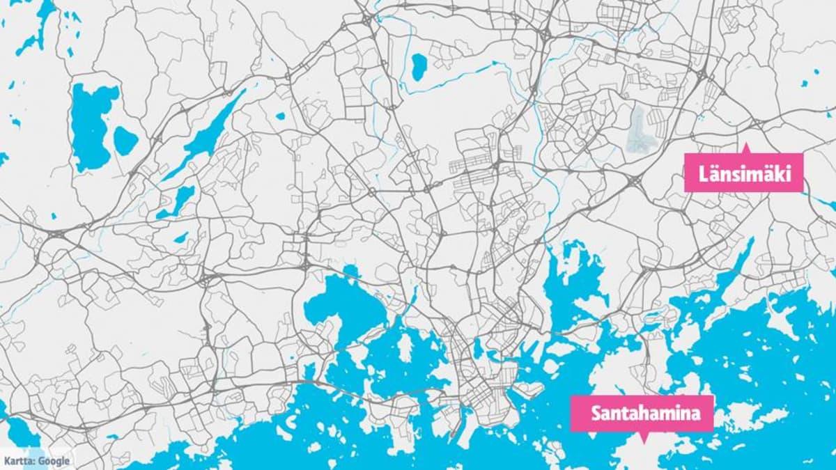 Kotini metropoli  - kartta