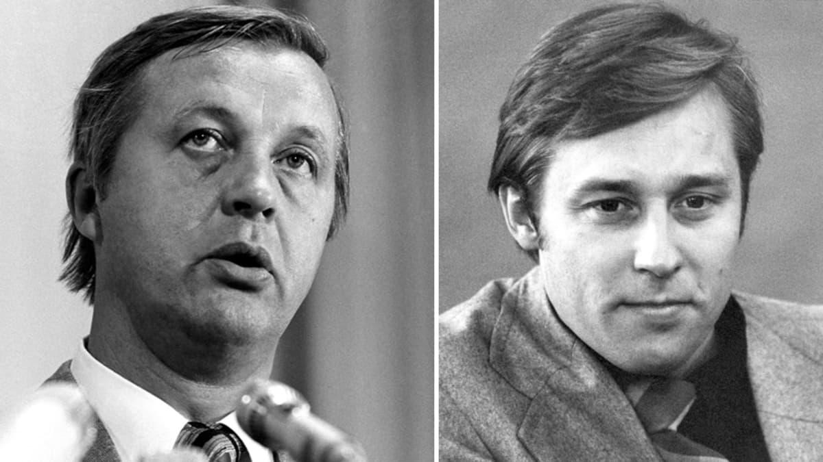 SDP:n Kalevi Sorsa ja kokoomuksen Pertti Salolainen.