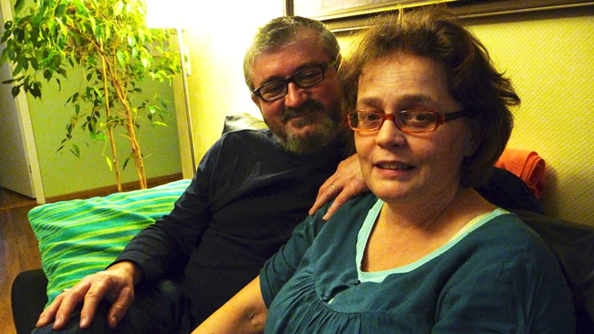 Antonios Delha ja Elina Kakko-Delha.