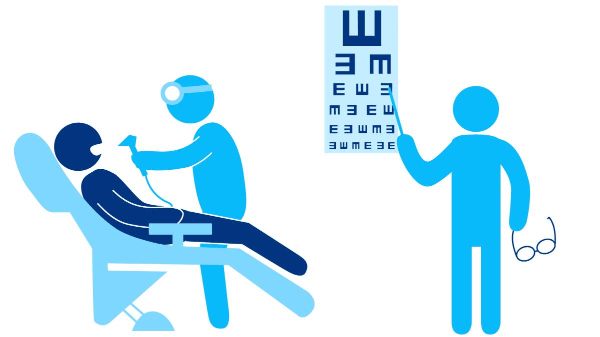 hammas- ja silmälääkäri -piirros
