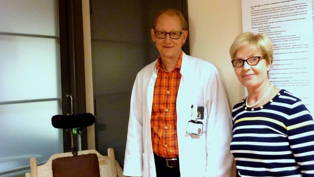 Professori Timo Peltomäki ja oikomishoidon erikoislääkäri Tuula Nieminen