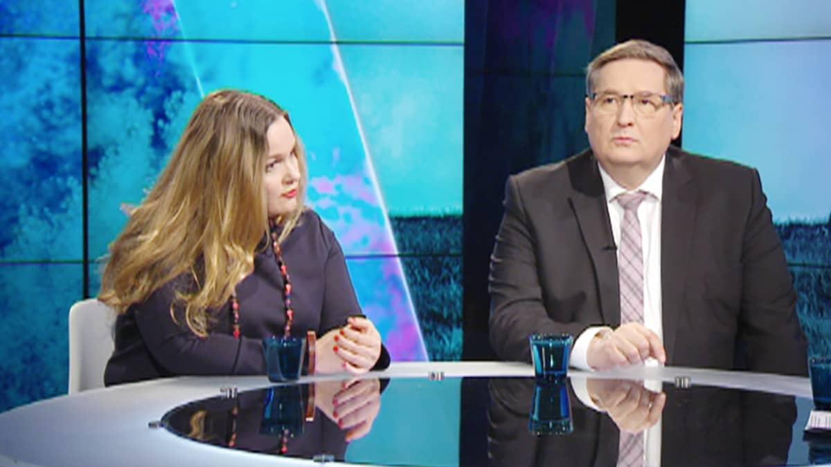Krista Kiuru ja Markku Rossi