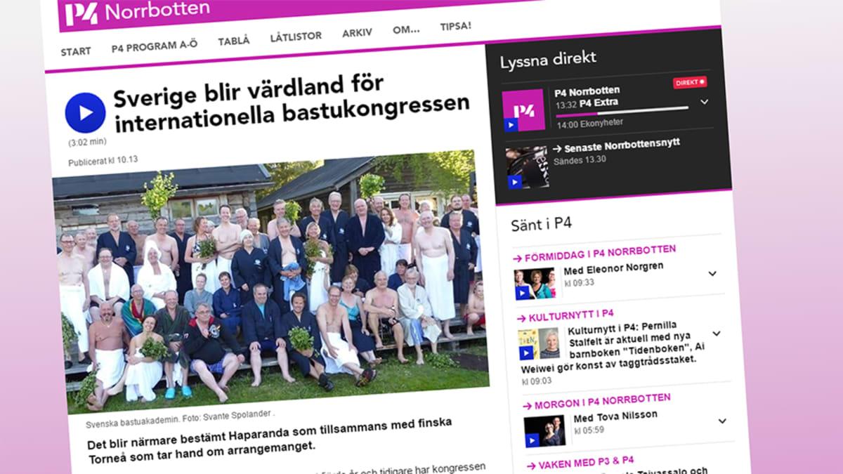Radio Norrbottenin uutinen.