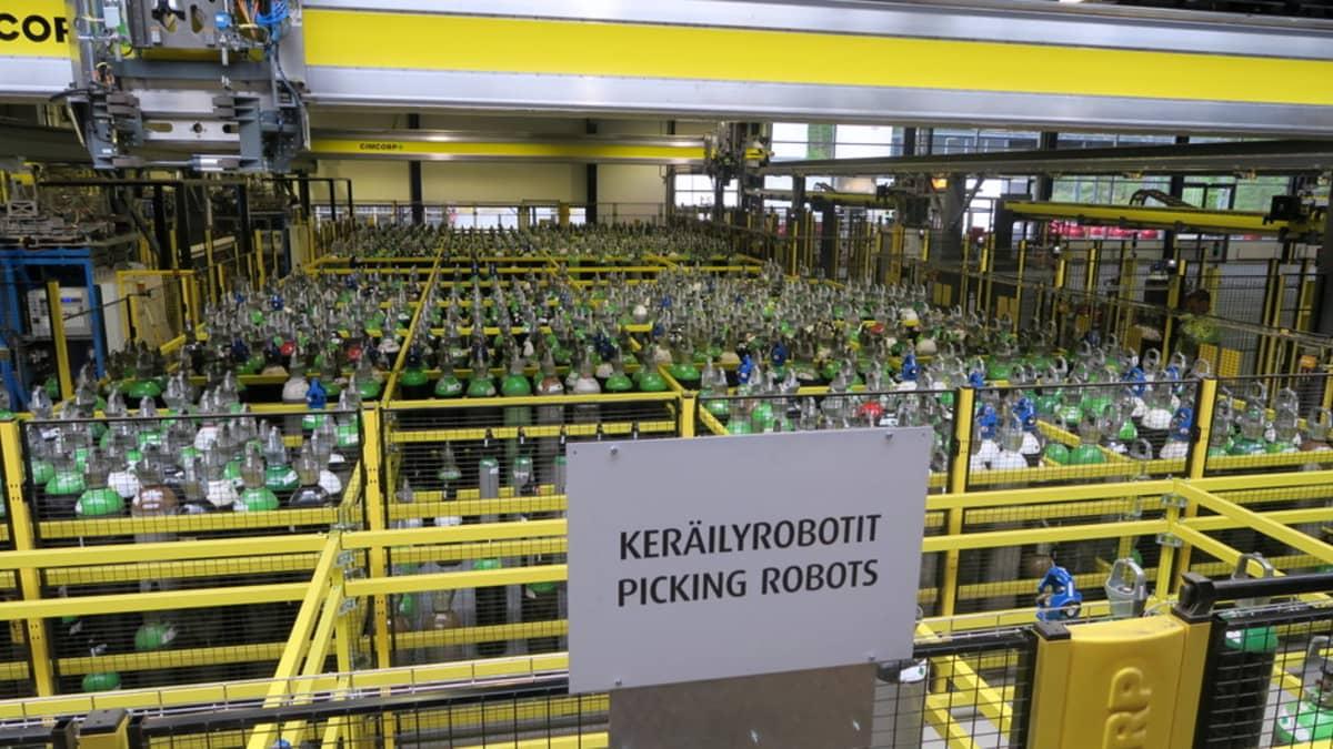Kaasupullojen keräilyrobotti