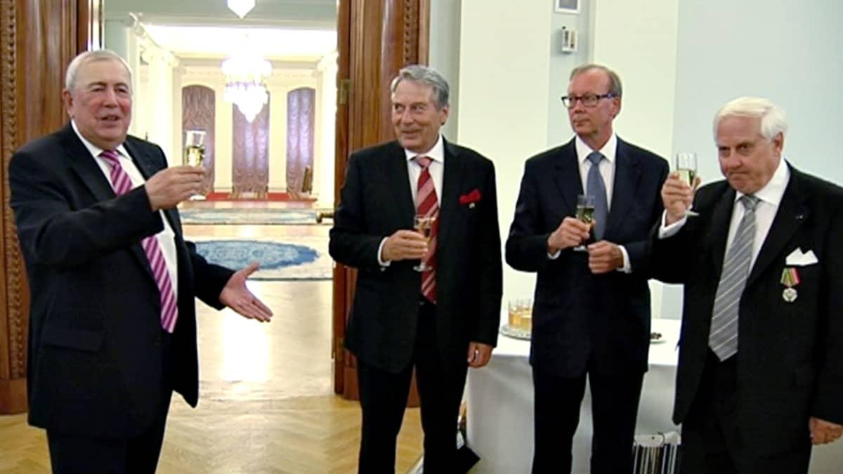 Aleksander Rumjantsev, Pauli Saapunki, Jussi Nuorteva ja Heikki Talvitie.