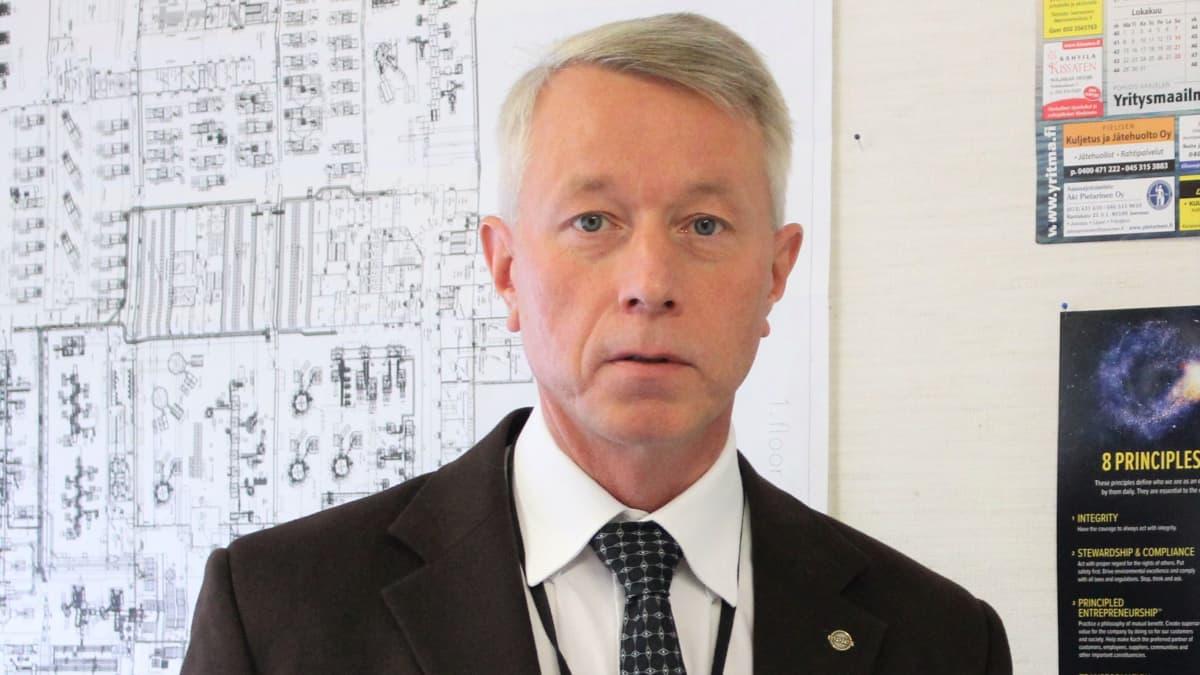 tehtaanjohtaja Perttu Huovinen Medisize Oy