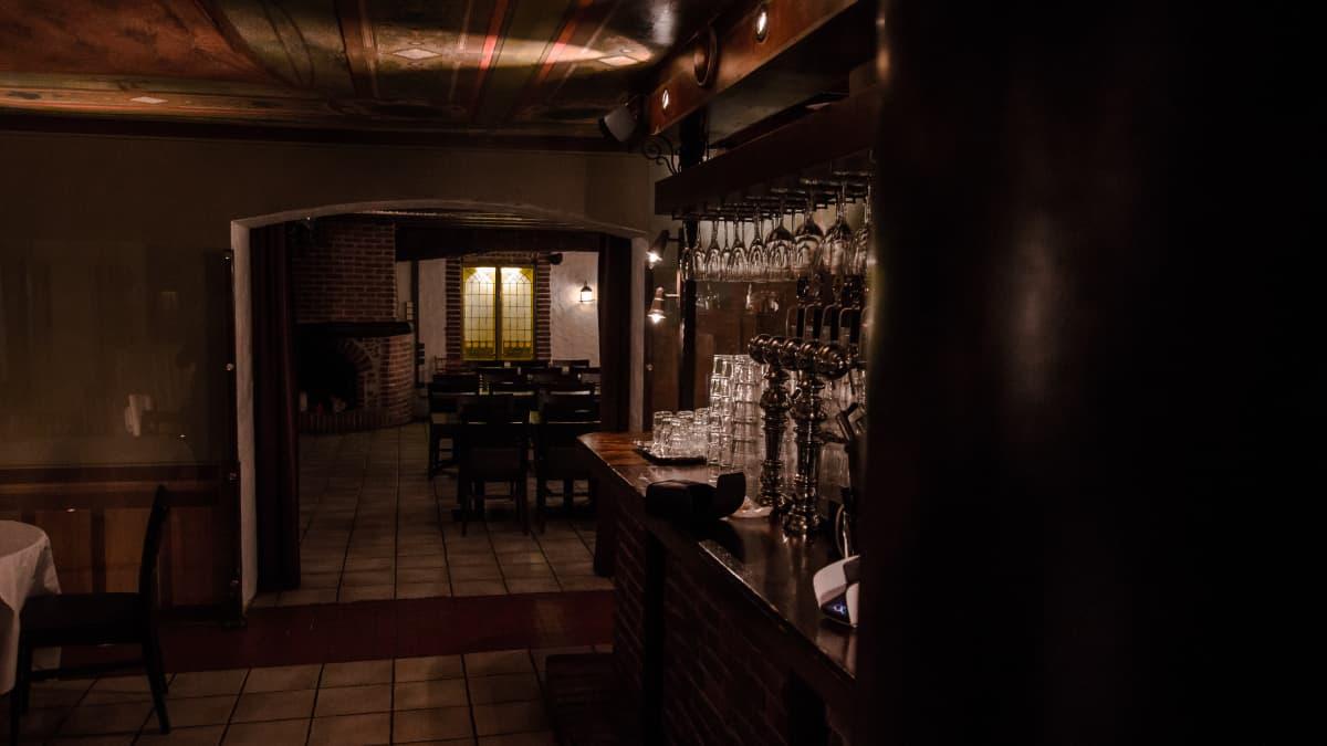 Ravintola kappelin kellaritilaa.