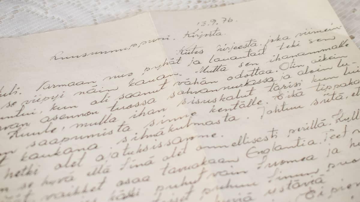 Lyyli Vassisen miehen, Veikko Vassisen kirjoittama kirje.