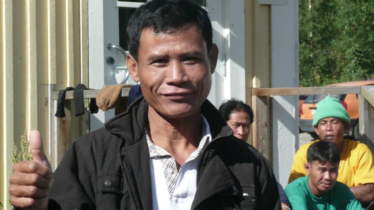 Thaimaalainen marjanpoimija