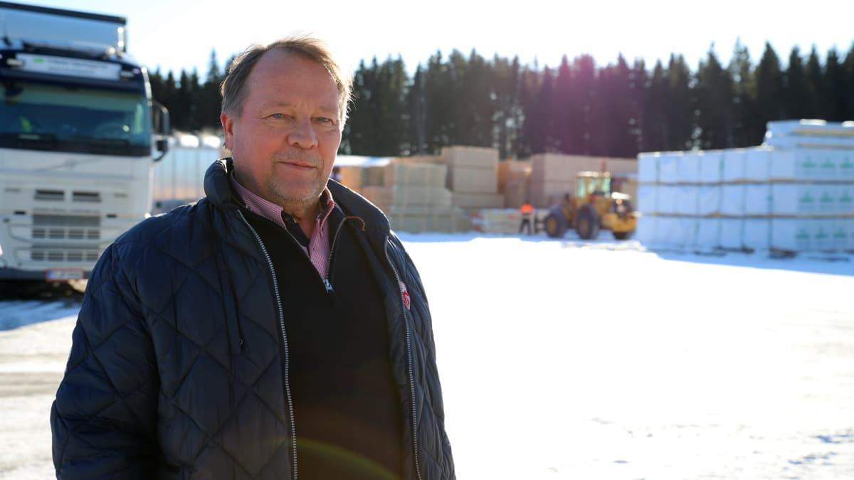 Kerimäkeläisen Sahakuution toimitusjohtaja Jari Suomalainen