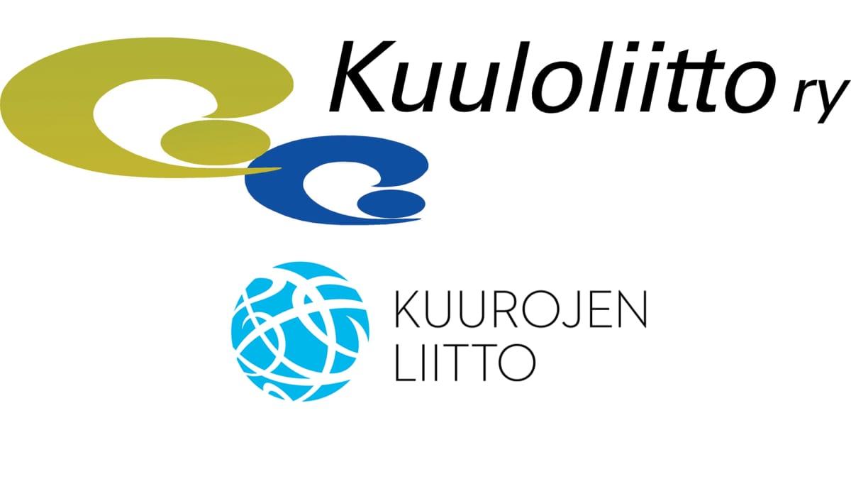 Kuuloliitto ry:n ja Kuurojen liiton logot