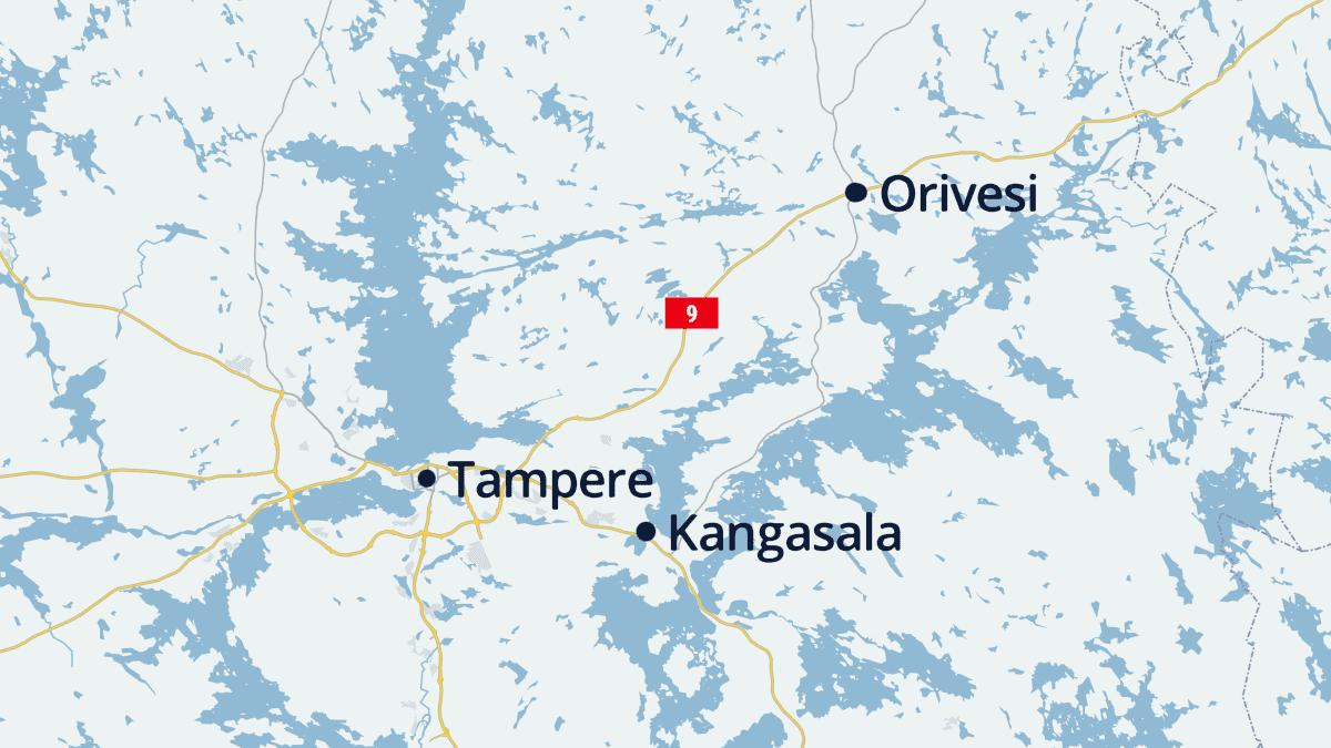 Kartassa orivesi, Kangasala ja Tampere
