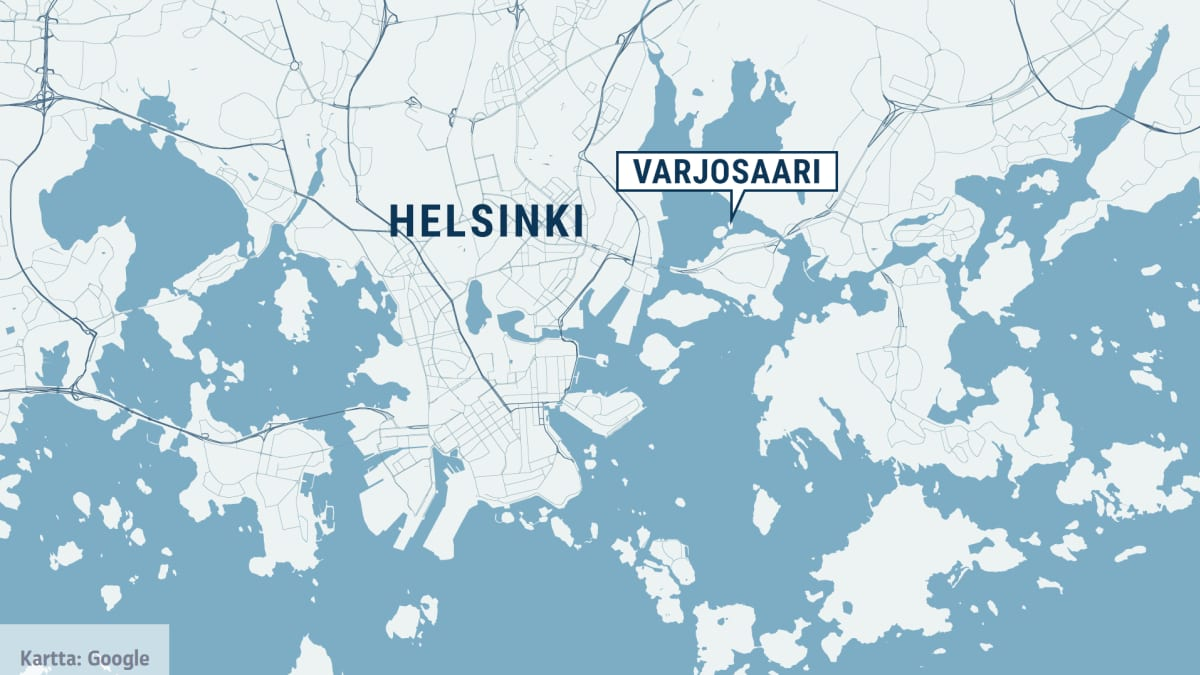 Kartta Helsingin Varjosaari