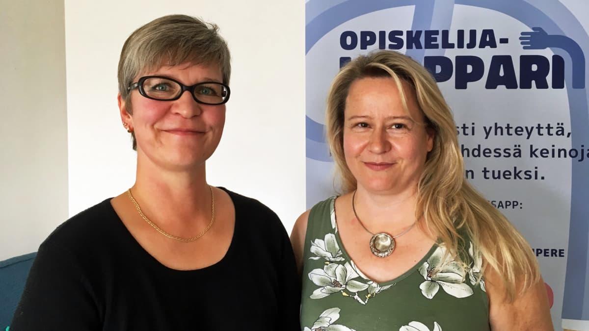 Opiskelijahelpparia ovat olleet suunnittelemassa Treilin palvelun johtaja Sanna Miettinen ja ohjaaja Katja Gröhn.