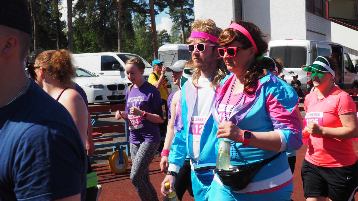Pullukka Run 2017 osallistujia.