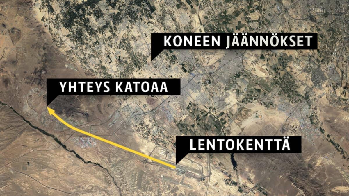 Ukrainalaisen Ukrainian International Airlines -lentoyhtiön (UIA) lento PS752 putosi 8.1.2020 lähelle Teheranin kansainvälistä lentokenttää. Kone oli matkalla Kiovaan.
