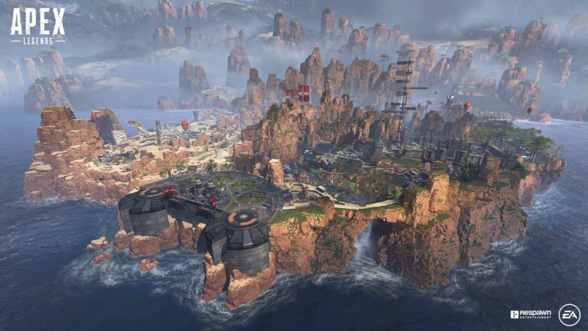 Apex Legends -pelissä kilpaillaan rajatulla kartalla kolmen hengen tiimeissä muita tiimejä vastaan.