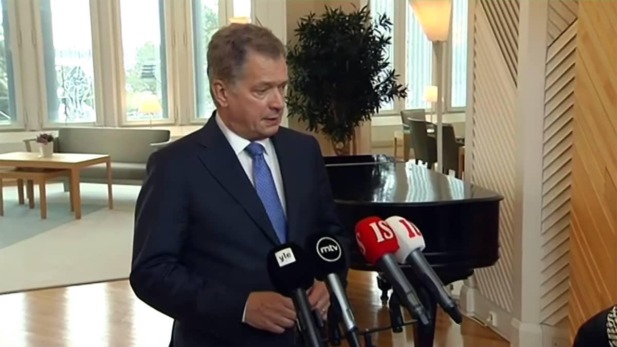 Uutisvideot: Presidentti Niinistö kommentoi kohua herättäneitä Nato-harjoituksia