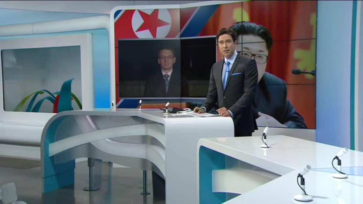 Uutisvideot: Kirjeenvaihtaja raportoi Ylen historian ensimmäisessä suorassa lähetyksessä Pohjois-Koreasta