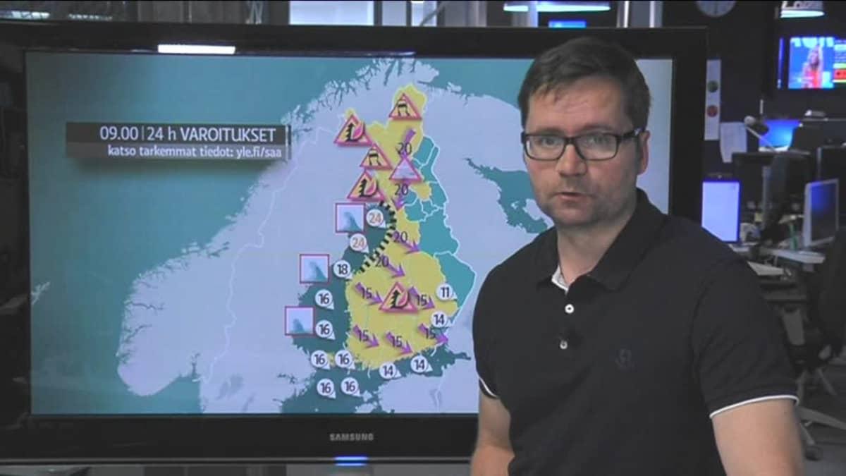 Kesämyrsky riepottelee tänään Suomea