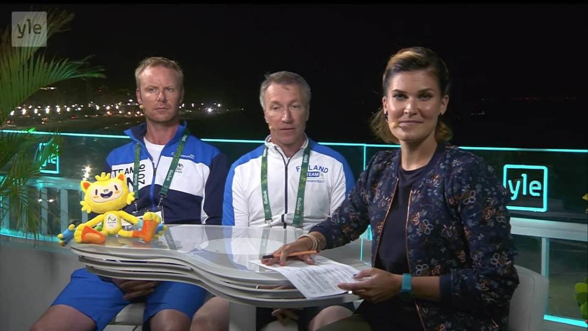 Rion olympialaiset: Mikko Ilonen ja Timo Rauhala Copacabanan studiossa