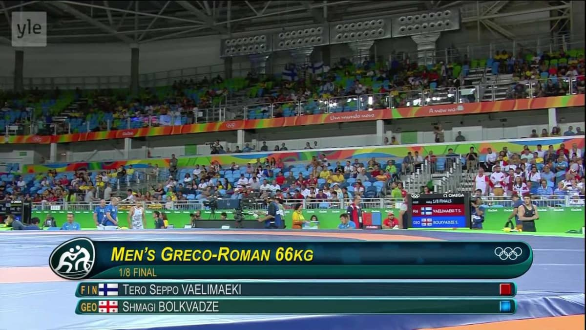 Rion olympialaiset: Välimäki taipui kivenkovan käsipainijan otteissa