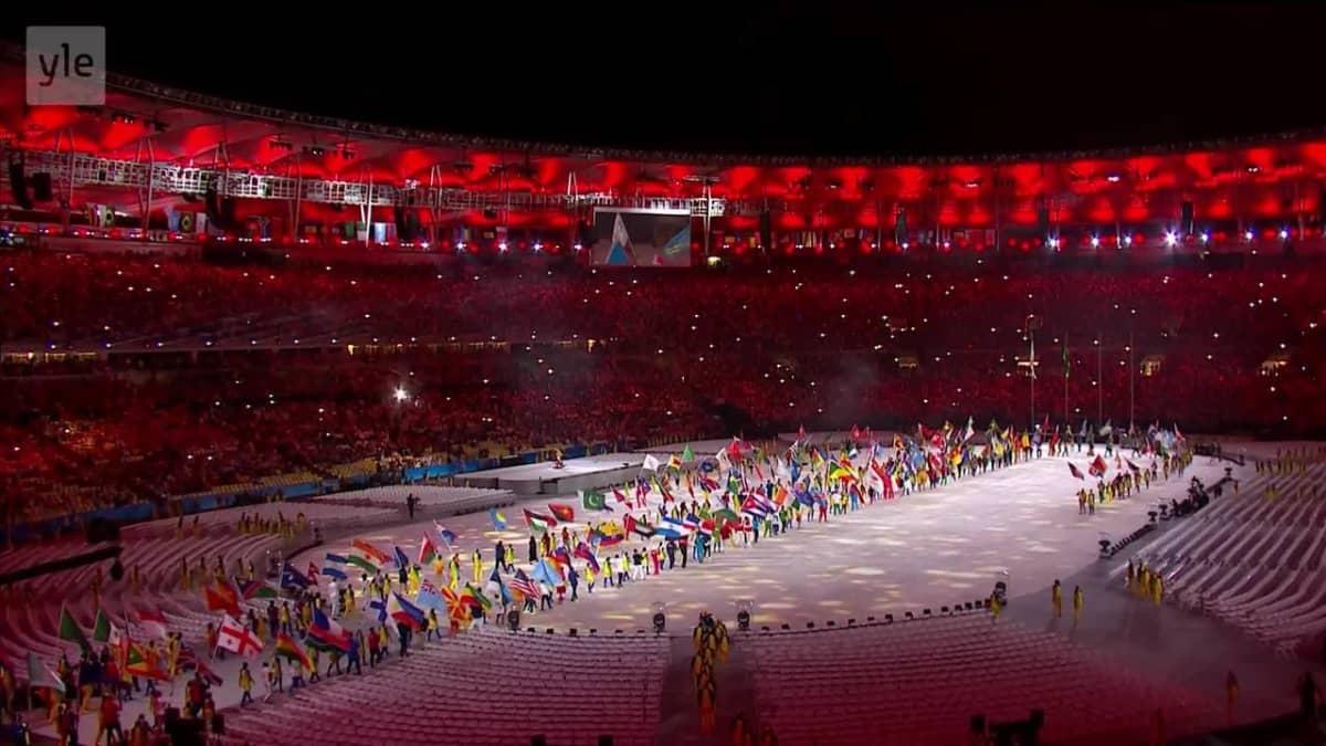 Rion olympialaiset: Näin Suomi saapui Rion olympialaisten päättäjäisiin