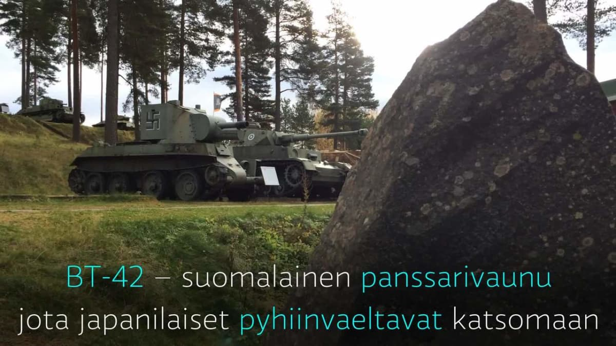 Yle Uutiset Häme: Japanilaiset pyhiinvaeltavat suomalaiselle panssarivaunulle