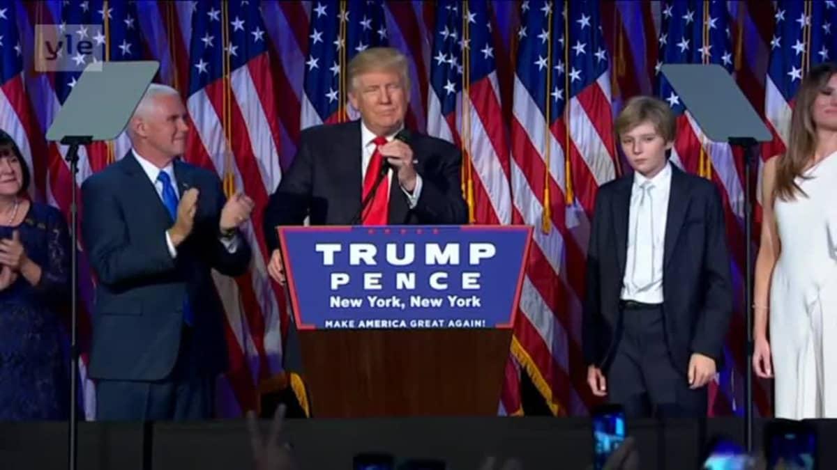 Uutisvideot: Donald Trumpista Yhdysvaltain presidentti