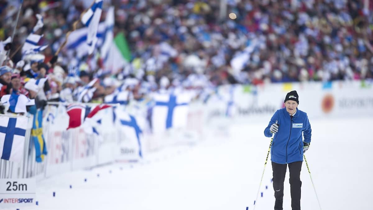 MM-Lahti, päivän tapahtumat: 92-vuotiaan Siiri Rantasen kunniakierros