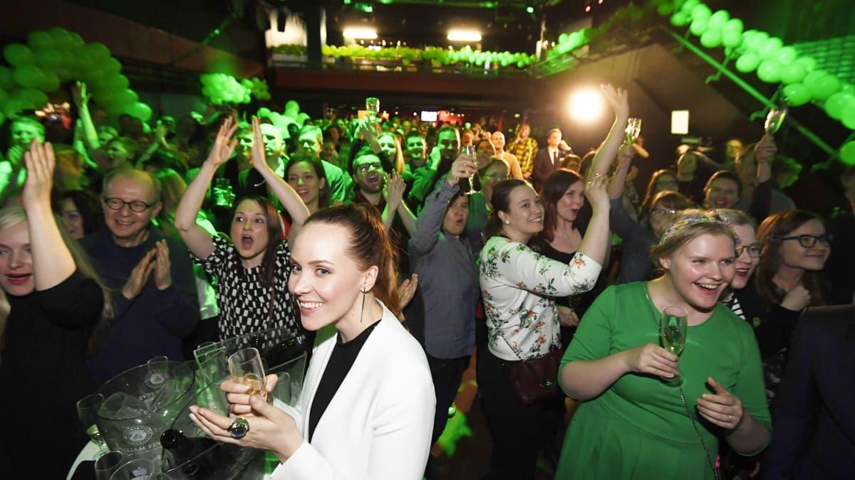 Vihreiden voitonjuhlat – Katso suorana