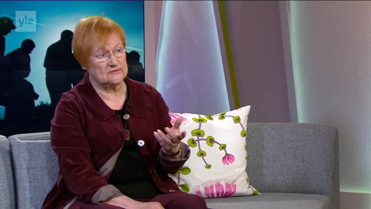 Ylen aamu-tv: Presidentti Tarja Halonen