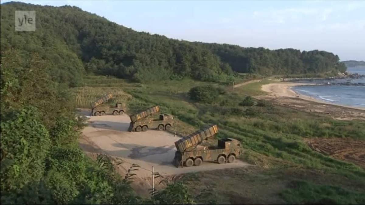 Uutisvideot: Etelä-Korea ampui ohjuksia harjoituksessa
