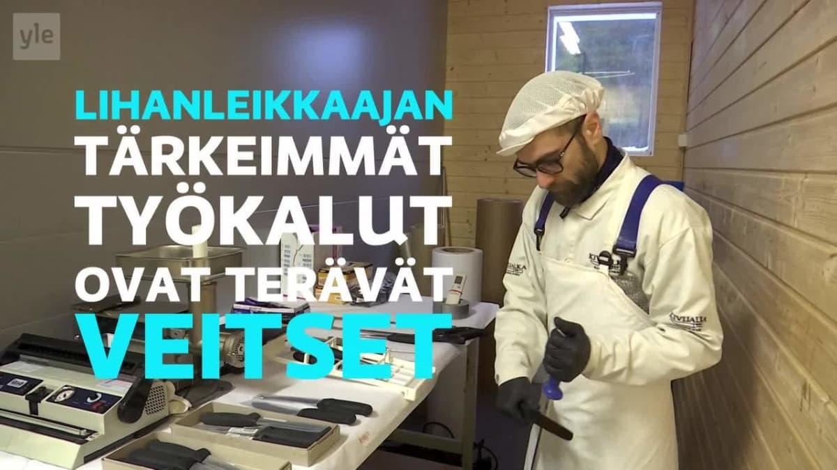 Yle Uutiset Keski-Suomi: Lihanleikkaaja kantaa teräsesiliinaansa ylpeydellä