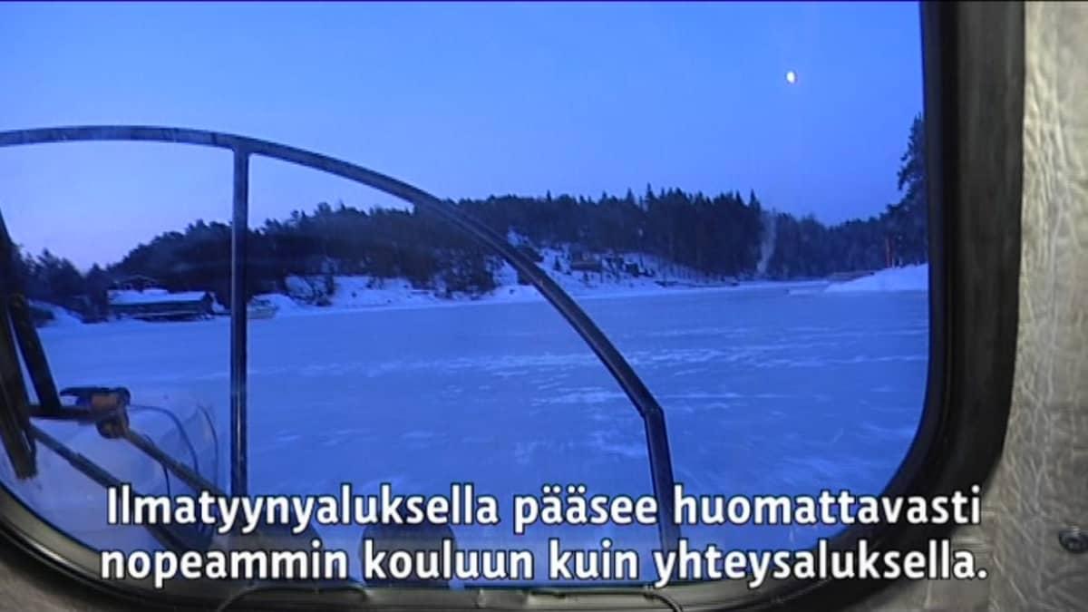 Yle Uutiset Lounais-Suomi: Saariston lapset ilmatyynyaluksen kyydissä