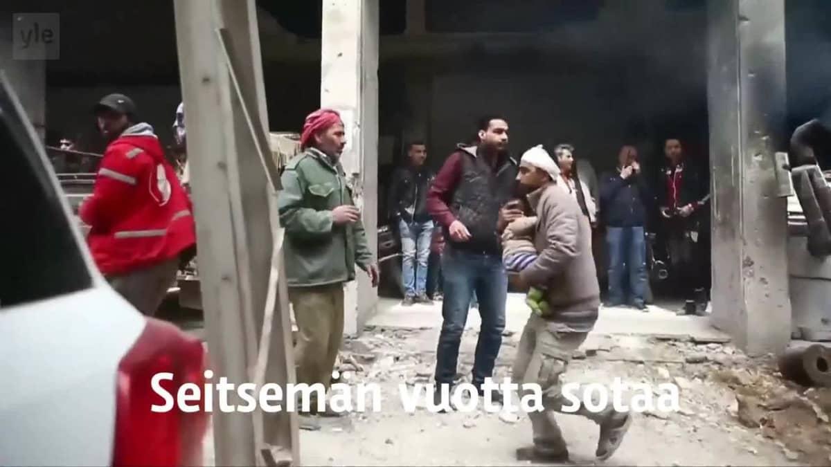 Uutisvideot: Tuhannet pakenevat Itä-Ghoutasta