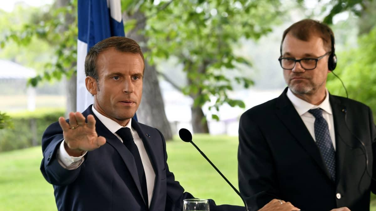 Presidentti Emmanuel Macron tapaa iltapäivällä pääministeri Juha Sipilän