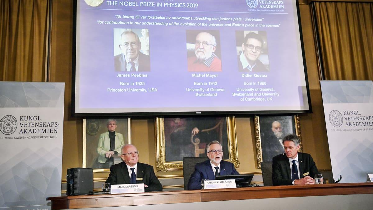 Nobelin fysiikanpalkinnon voittaja ilmoitetaan