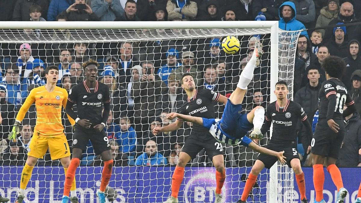 Brighton tasoitti Chelseaa vastaan saksipotkumaalilla