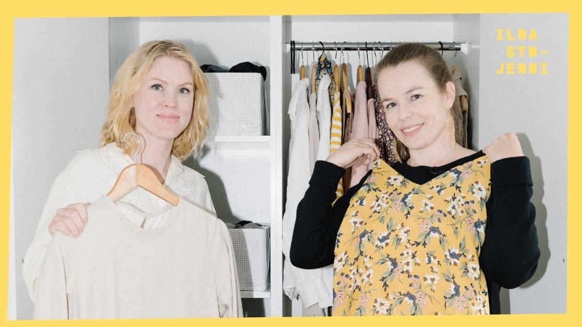 Vaatteet: Katri on laskenut vaatekaappinsa ja pärjää 50 vaatteella – miten se on mahdollista?