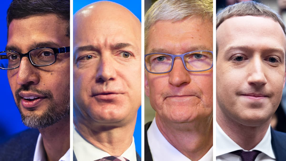 Yhdysvaltain kongressi kuulee teknologiajättien johtajia
