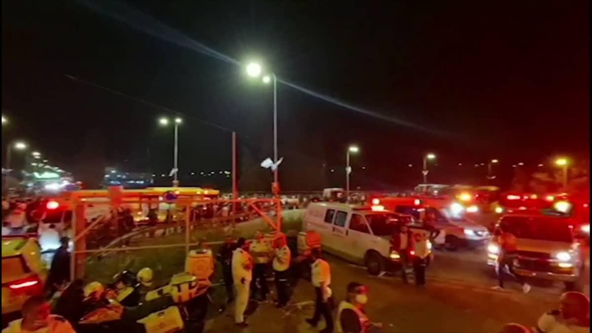 Israelissa kymmeniä kuolleita uskollisessa juhlassa syntyneessä kaaoksessa