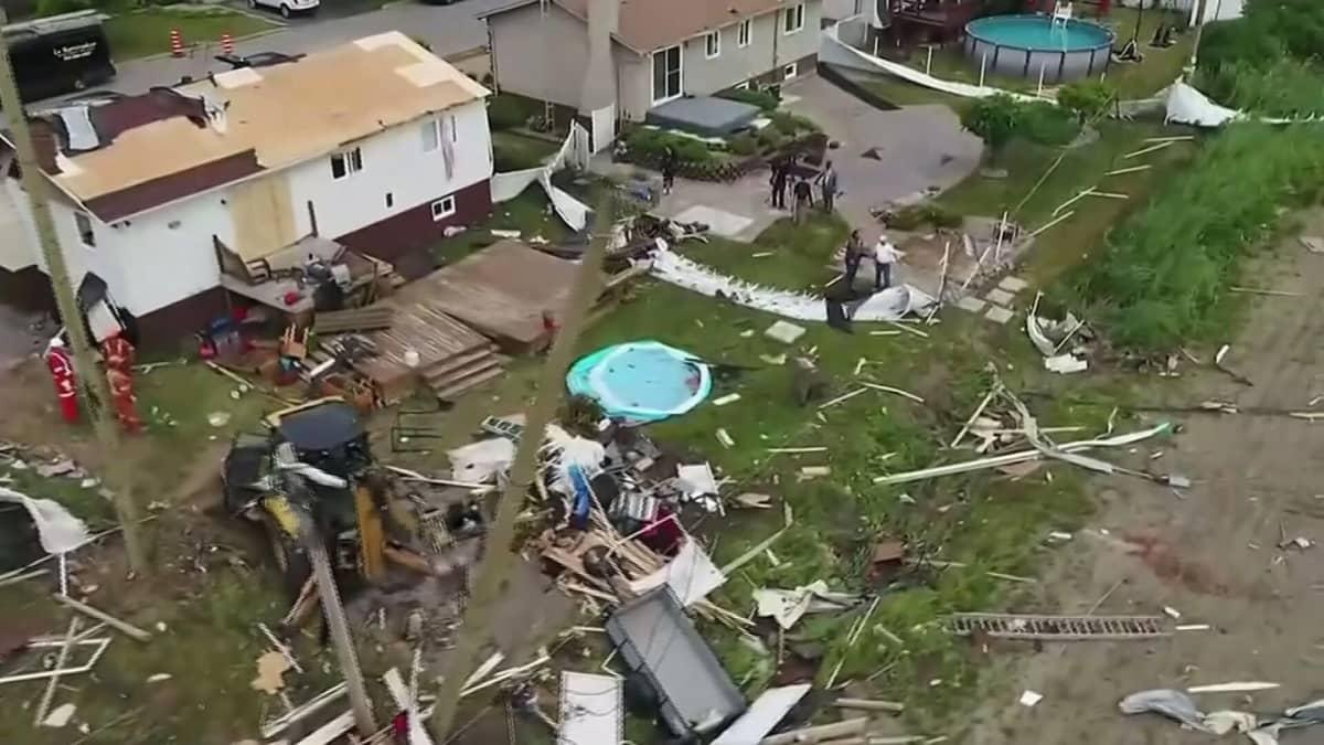 Tornado aiheutti tuhoa Kanadassa