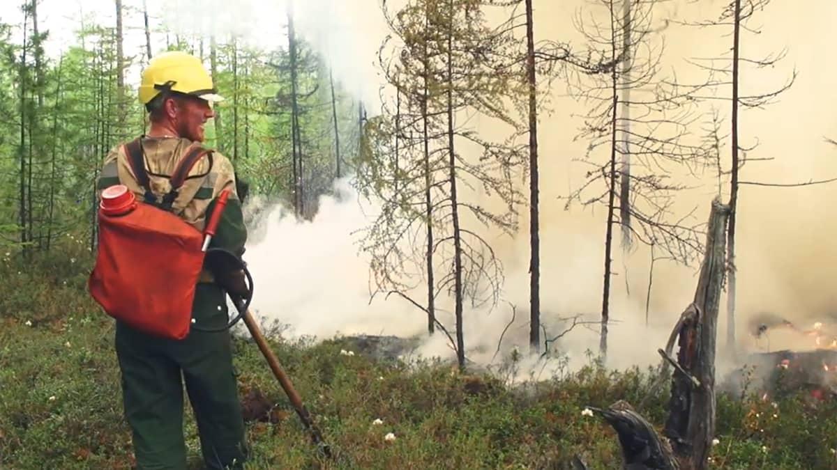 Metsäpalot riehuvat Siperiassa